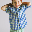 Portrait of a little boy in studio. — Stock Photo