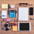 Contents of business workspace organized and composed. — Stock Photo #31148307