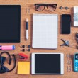 The contents of a business workspace organized and composed.  — Stok fotoğraf