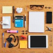 The contents of a business workspace organized and composed. — Stock Photo #33059941