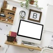 Modern creative workspace. — Stock Photo #39637553