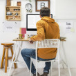 Modern creative mworking on workspace. — Stock Photo #39637607