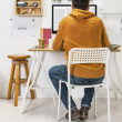 Modern creative mworking on workspace. — Stock Photo #39637615