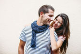 Portrait of a beautiful young couple. — Stock Photo