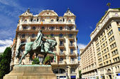 Barcelona horseman. — Stock Photo