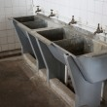 Washbasins at Robben Island Prison — Stock Photo