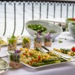 Vegetable platter at a hotel buffet — Stock Photo
