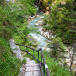 Hiking path in the Austrian Alps — Stock Photo