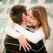Young happy couple in embracement — Stock Photo