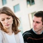 Relationship problem - couple portrait — Stock Photo