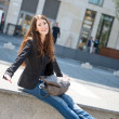Young woman - casual fashion outdoor portrait — Stock Photo