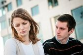 Relationship problem - couple portrait — Stock Photo