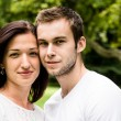 Stock Photo: Young couple portrait