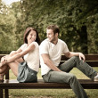 Young beautiful couple dating - Stok fotoğraf