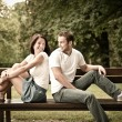 Young beautiful couple dating — Stok fotoğraf