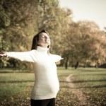 Enjoying life - expecting child in pregnancy — Stock Photo #18188487