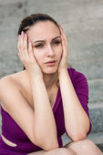 Big problems - worried woman — Stock Photo