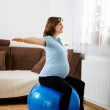 Exercise at pregnancy — Stock Photo #22514273
