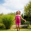 Jumping with skipping rope - Stockfoto