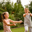 Happy childhood - dancing children — Stock Photo