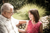 Joyous life - grandfather with grandchild — Stock Photo