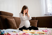 Pregnancy worries — Stock Photo