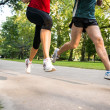 Stock Photo: Jogging couple - detail of legs