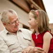 Good times - grandparent with grandchild - Stock Photo