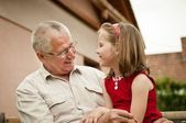 Good times - grandparent with grandchild — Stock Photo
