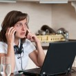 On the phone - work from home — Stock Photo #25552531