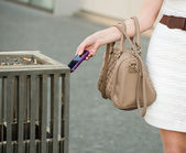 Away with mobile phone — Stock Photo