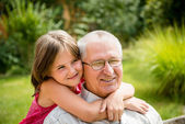 Happy grandfather with grandchild — Stock Photo