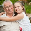 Love - grandparent with grandchild portrait — Stock Photo #28790149