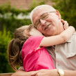 Love - grandparent with grandchild portrait — Stock Photo