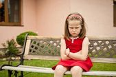 Offended child portrait — Stock Photo