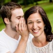 Stock Photo: Tell me secret - whisper