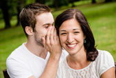 Tell me secret - whisper — Stock Photo