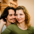 Interior couple portrait — Stock Photo