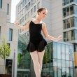 Ballet dancer dancing on street — Stock Photo