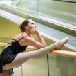 Ballet dancer at escalator — Stock Photo #29444163