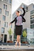 Ballet dancer dancing on street — Stock Photo
