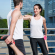 Stock Photo: Warm up - couple exercising