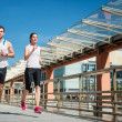 Jogging together — Stockfoto