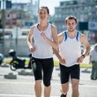 Running together — Stock Photo