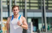 City jogging — Stock Photo