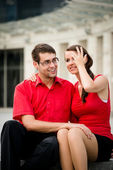 Happy together - young couple — Stock Photo