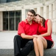 Young business couple in love — Stock Photo #30930097