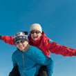 Winter fun - happy senior couple — Stock Photo #30944227