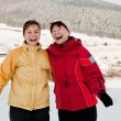 Happy retirement - mother and daughter in winter — Stock Photo #30946813