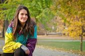 Fall portrait of young woman — Stock Photo